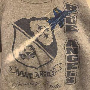 Vtg Blue Angels US Navy sweatshirt jets sz 6-8 kid
